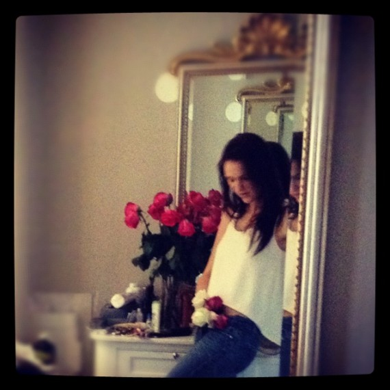 Natalie With Roses